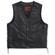 Black Conceal Carry Leather Vest