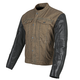 Brown/Black Band of Brothers Leather and Denim Jacket