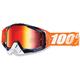 Orange/White Racecraft Crush Goggle w/Mirror Red Lens - 50110-115-02