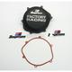 Factory Racing Black Clutch Cover - CC-06B