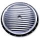 Chrome Dimpled Air Cleaner Insert - C0017-C