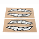 Large FMF Logo Side Arch Decals - 015231