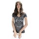 Womens Broken Heart Club V-Neck T-Shirt