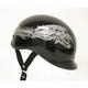 Black Polo Alien Half Helmet