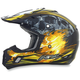 Black/Yellow Multi FX-17 Inferno Helmet