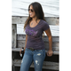 Womens Purple Glitter Guns T-Shirt