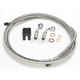 Custom Sterling Chromite II Designer Series BYO Braided Stainless Steel Single Disc 6 Ft Brake Line Kit with 7/16 Inch 35 Degree Banjo - 396735A