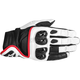 White/Black/Red Celer Leather Gloves