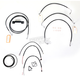 Black Vinyl Handlebar Cable and Brake Line Kit for Use w/12 in. - 14 in. Ape Hangers - LA-8012KT2-13B