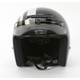 Black/Silver Jimmy Retro Helmet