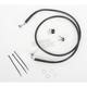 Front Extended Length Black Vinyl Braided Stainless Steel Brake Line Kit +8 in. - 1741-2560