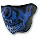 Chrome Skull Half Face Mask - WNFM024H