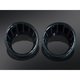 Gloss Black Speedo and Tach Bezels w/Blue LED Lighting - 7288