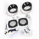 Gloss Black Speaker Bezels w/Blue LED Lights - 7286