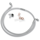 Custom Sterling Chromite II Designer Series 90 Degree Top Angle Custom Single-Disc Front Brake Line - 36248SW