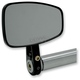 Black Cafe Style Bar End Mirror w/Straight Stem - 09-314-DB