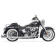 Chrome True Duals w/33 in. Fishtail Mufflers and No Baffles - 1S36E-33