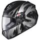 RKT-201 Gothic Black/Silver Helmet