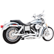 Chrome Sharp Curve Radius Exhaust System - HD00258