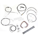 Black Vinyl Handlebar Cable and Brake Line Kit for Use w/18 in. - 20 in. Ape Hangers (w/o ABS) - LA-8005KT2B-19B