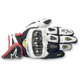 White/Black/Red SP-X Leather Gloves