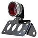 Black 33 Ford Taillight/License Plate Bracket Kit w/Red Lens - 107-0026
