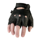 Black 243 Half Leather Gloves