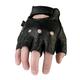 Black 243 Half Leather Gloves