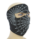 Glow in the Dark Spiderweb Full Face Mask - WNFM057G