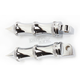 Chrome Tribal Footpegs - RP111-LC