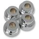 Chrome 10° Angle Handlebar Riser Adaptors - LA-7400-10