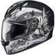 Black/Gray/White FG-17 MC-5 Flutura Helmet