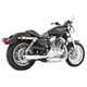 Chrome Racing Slip-On Mufflers - HD00320
