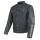 Black Band of Brothers Leather and Denim Jacket