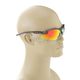 Black Safety C-122 Sunglasses w/Red Lens - C-122BK/RD
