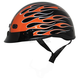 Flame Black/Orange Nano Custom Half Helmet