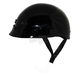 Gloss Black Nano Custom Half Helmet