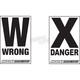 Danger/Wrong Way Course Signs - 9901-0319