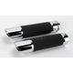 Billet Twin Slash Grips w/ Interchangeable End Caps - 0630-0748