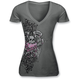 Womens Lethal Angel Skull T-Shirt
