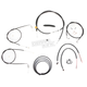 Black Vinyl Handlebar Cable and Brake Line Kit for Use w/12 in. - 14 in. Ape Hangers - LA-8220KT2-13B