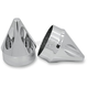 Chrome Spike Front Axle Nut Covers - AXL-SPK-CH