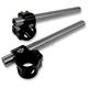 Black Anodized Clip-On Handlebar for 41mm Fork Tubes - 09-381B