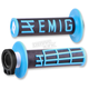 Black/Blue Emig V2 Lock-On Grips - H32EMBU