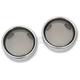 Smoke Turn Signal Lens Kit with Chrome Trim Ring - 2020-0547