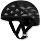Stealth FX-200 Slick Flag Beanie Style Half Helmet