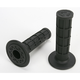 Black Half Waffle MX Single-Ply Grips - H01RFB