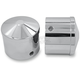 Chrome Air Cushion Front Axle Nut Covers - AXL-AIR-CH