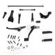Black Forward Control Kit w/O-ring Pegs - 45834