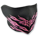 Pink Flames Half Face Mask - WNFM054H